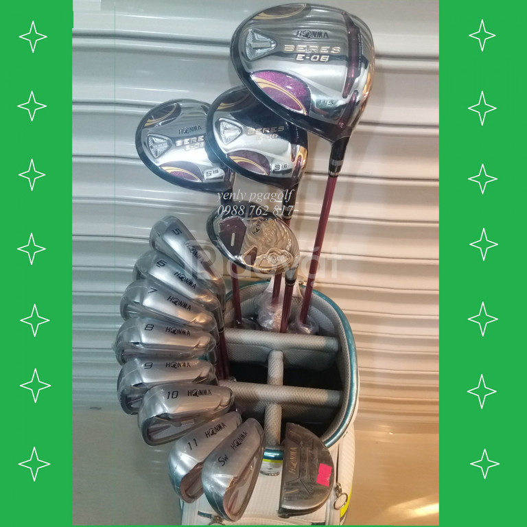 Bộ gậy Golf Honma Beres E-06 2 sao Ladies (new model)