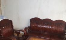 Thanh lý bộ bàn ghế salon gỗ
