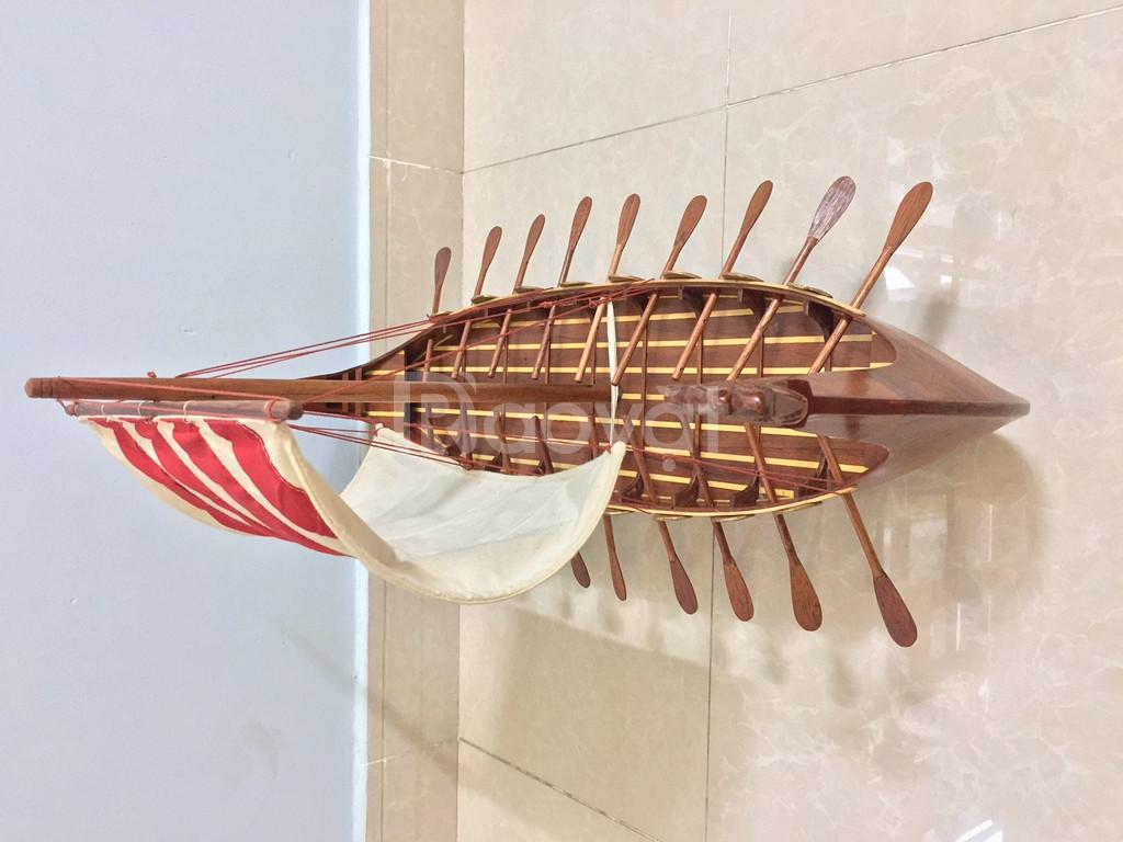 Mô hình thuyền Viking gỗ tự nhiên 80cm (ảnh 5)