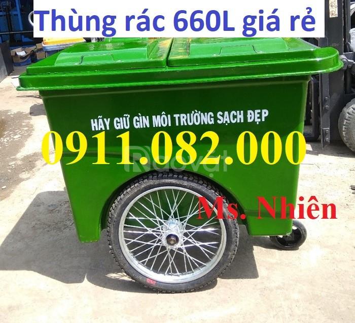 Thanh lý thùng rác 120 lít 240 lít hàng chất lượng giá rẻ