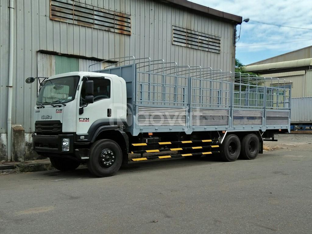 Xe tải Isuzu 14, 15, 16 tấn thùng mui bạt giá lăn bánh  (ảnh 1)