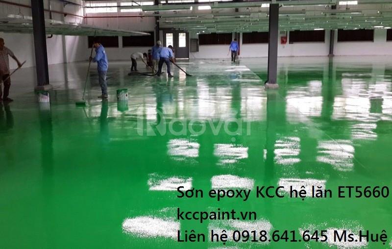 Mua bán sơn lăn Epoxy kcc nhà xưởng màu Green xanh, màu Grey xám