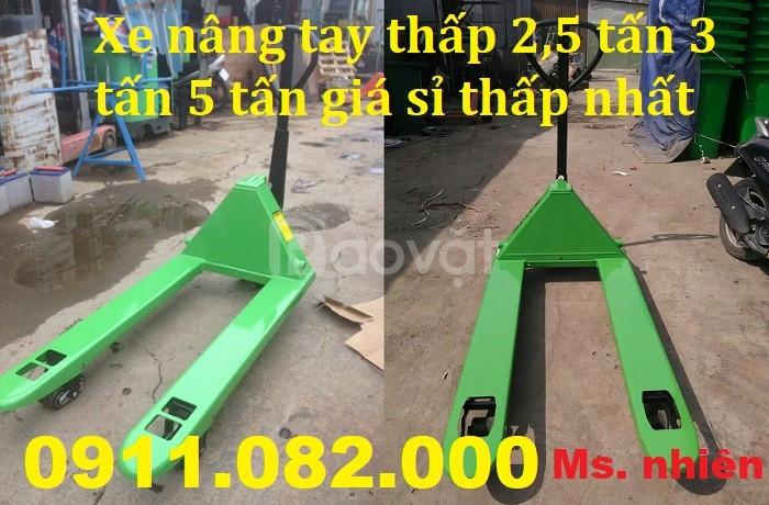 Bán xe nâng tay thấp 3 tấn 5 tấn giá rẻ Vĩnh Long