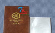 Cơ sở sản xuất bìa menu nhà hàng, bìa menu nhựa giá rẻ, bìa menu cong