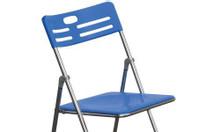 Ghế xếp inox, ghế xếp inox có lưng tựa, ghế xếp inox có nệm