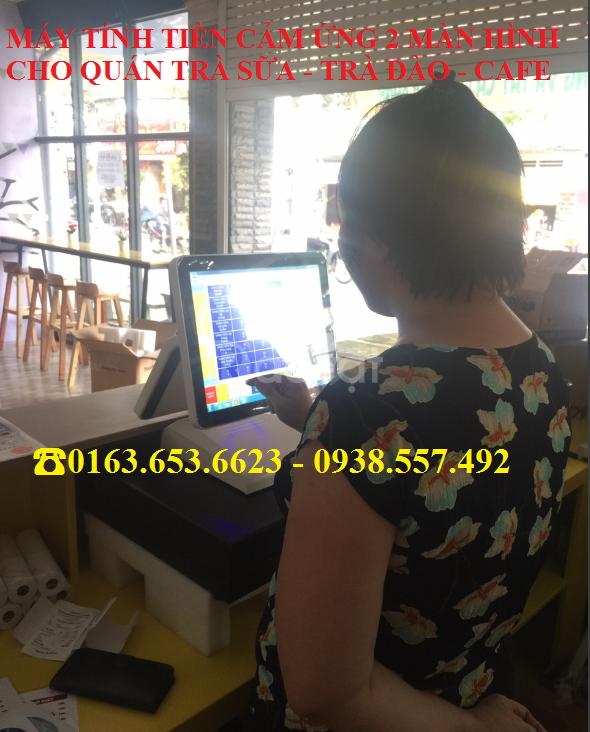Tư vấn máy tính tiền 2 màn hình trọn bộ cho quán trà sữa giá rẻ (ảnh 1)