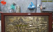 Tranh đồng cội nguồn quê hương đồng vàng giả cổ 97cm x 1m97