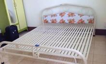 Giường sắt inox, giường sắt 1m4, giường sắt đẹp, giá giường sắt