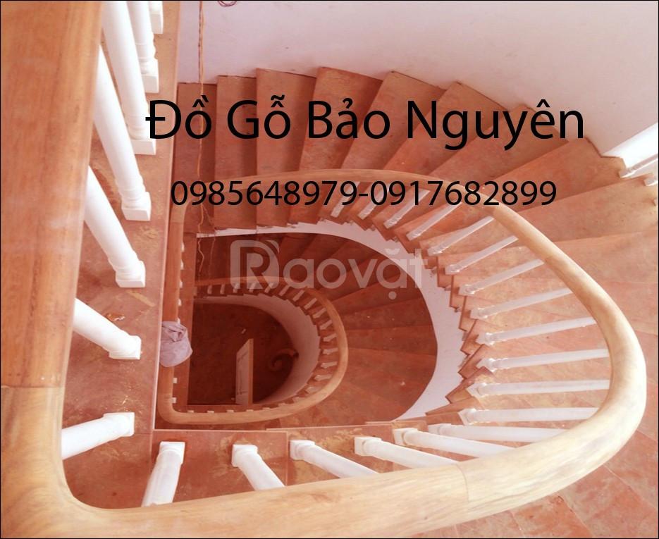 Bán tay vịn mặt bậc cầu thang gỗ lim (ảnh 3)