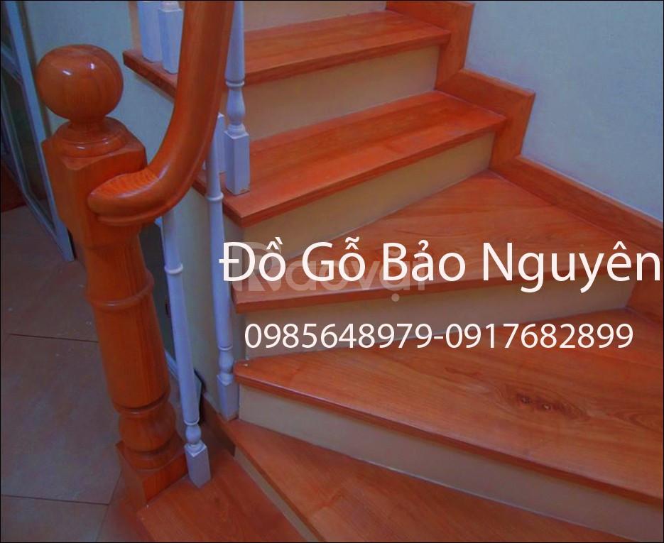 Bán tay vịn mặt bậc cầu thang gỗ lim (ảnh 1)