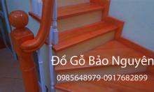 Bán tay vịn mặt bậc cầu thang gỗ lim