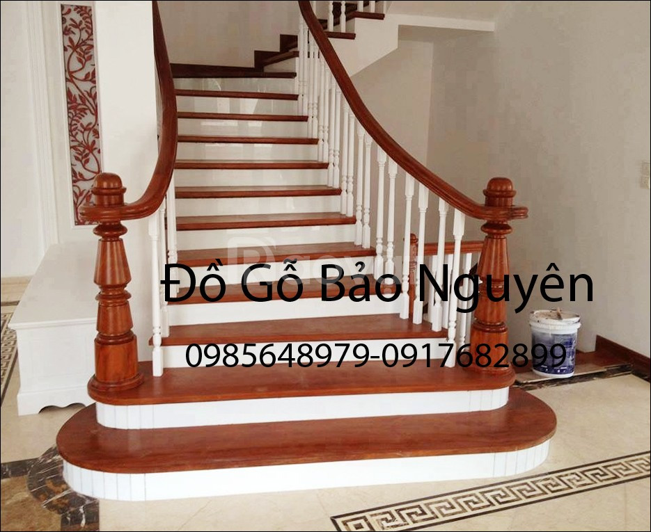 Bán tay vịn mặt bậc cầu thang gỗ lim (ảnh 7)
