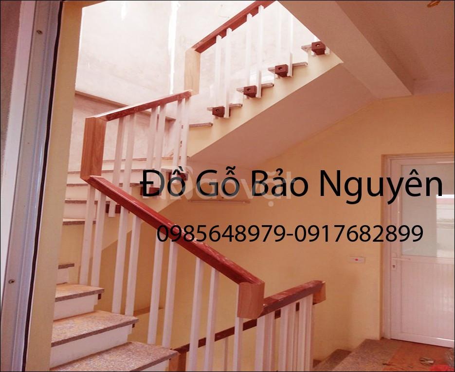 Bán tay vịn mặt bậc cầu thang gỗ lim (ảnh 4)
