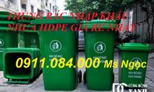 Thùng rác môi trường 240 lít giảm giá tại Vĩnh Long