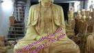 Tượng thờ gỗ, tượng phật gỗ mít lõi sơn son thếp bạc thếp vàng (ảnh 1)