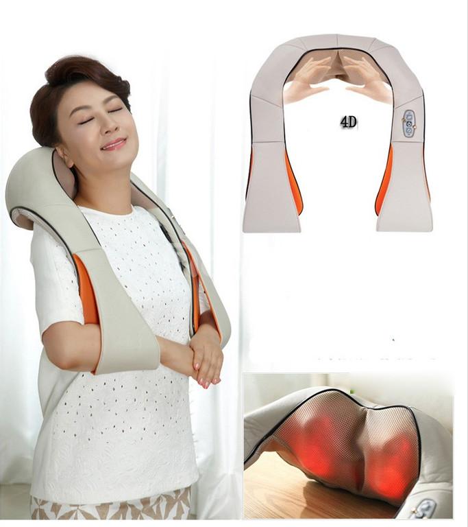 Đai massage vai cổ gáy giảm đau hồng ngoại, máy mát xa giảm đau 8 bi