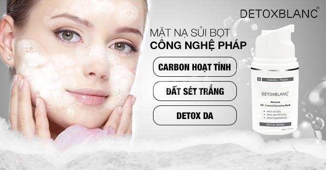 Mặt nạ thải độc trắng da công nghệ than hoạt tính - detox mask (ảnh 1)