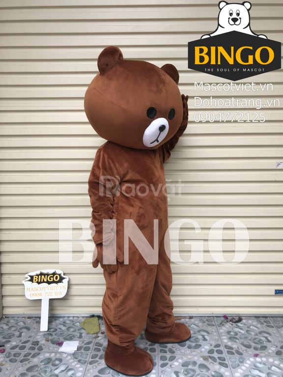 Bán mascot gấu brown giá rẻ TPHCM