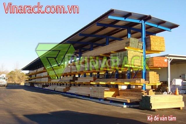 Kệ tay đỡ cho nhà máy chế biến gỗ