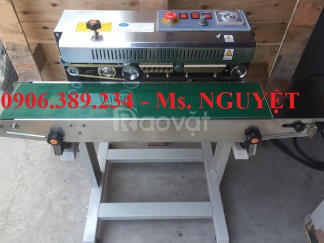 Máy hàn miệng bao băng tải tự động có in date giá rẻ TP. HCM, Đồng Nai