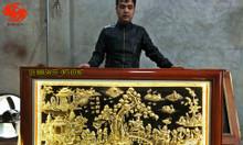 Tranh đồng Vinh quy bái tổ đồng vàng nền đen đẹp