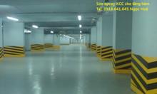 Sơn Epoxy KCC thi công sơn lăn nhà xưởng Epoxy KCC màu Green D40434