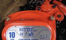 Pa lăng xích kéo tay Nitto 1 tấn, 2 tấn, 3 tấn 5m