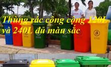 Vĩnh Long thùng rác 240 lít giá sỉ tại kho