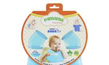 Yếm cho bé ăn Pamama Super Soft BABY BIB xanh