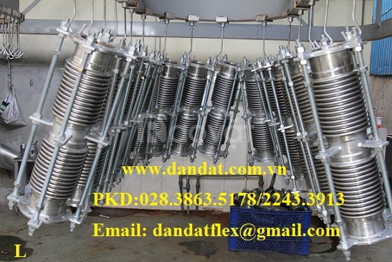 Xin giá ống mềm nối bích, khớp nối mềm giảm chấn (bích sắt 20K) (ảnh 8)