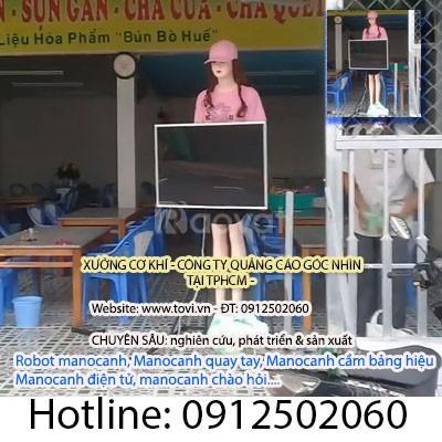 Manocanh robot xoay bảng hiệu quảng cáo - tại TPHCM (ảnh 3)