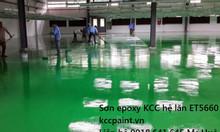 Sơn Epoxy kcc nhà xưởng màu xanh D40434, màu vàng 3000(M), màu trắng