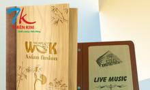 Chuyên sản xuất bìa menu nhựa, làm bìa menu các hãng bia, cuốn menu da