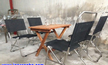 Ghế xếp lưới Inox, ghế xếp inox cafe, ghế xếp inox vải bố, ghế xếp