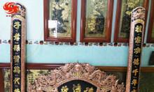 Bộ cuốn thư câu đối đồng đỏ dát vàng Đức Lưu Quang