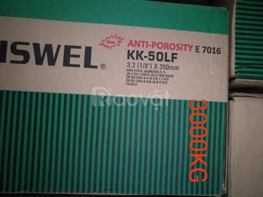 Que hàn chịu lực K-7018, que hàn chịu lực KK-50LF E7016