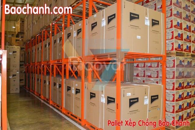 Pallet xếp chồng lưu trữ cao su sơ chế