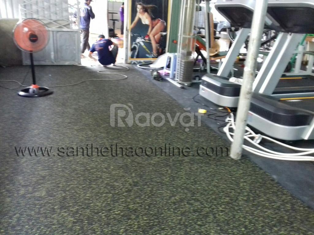Sàn cao su đang là sự lựa chọn tối ưu dùng để lót phòng gym