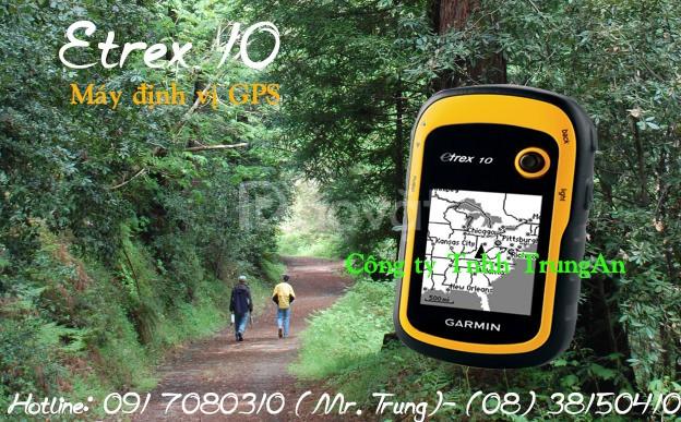 Máy đo diện tích đất GPS Garmin eTrex 10 cầm tay (ảnh 1)