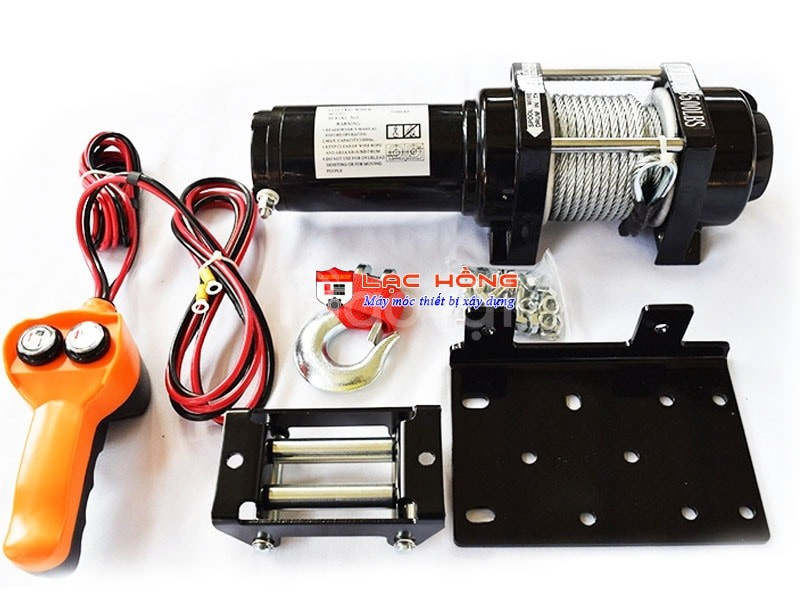 Tời điện dùng ắc quy Hugo 2000 LBS 12V/24V 900KG