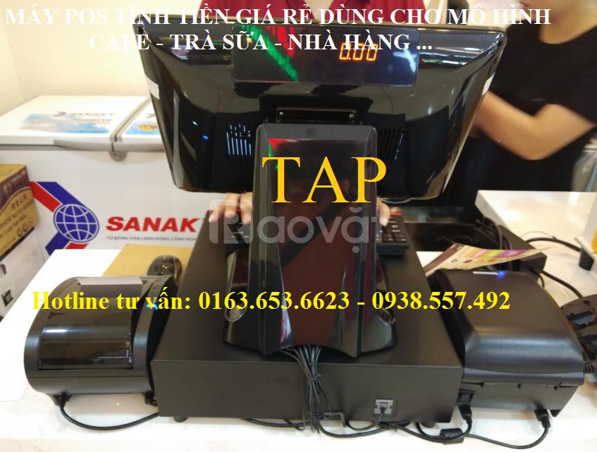 Máy tính tiền cảm ứng nguyên khối cho trà sữa giá rẻ tại Bình Phước (ảnh 4)