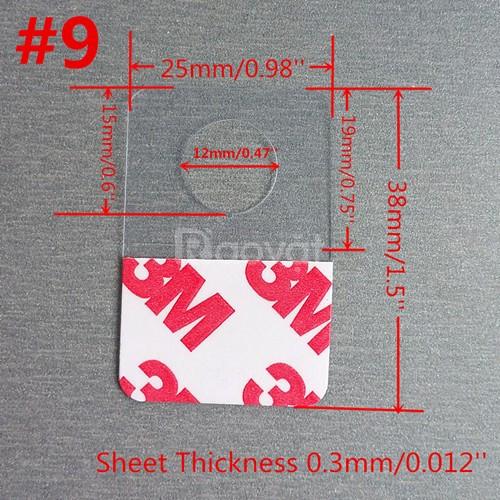 Thẻ treo bằng nhựa PVC PET PP trong suốt 3M Adhesive Plastic Hang Tabs