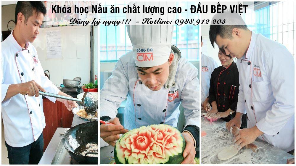 Khóa học nấu ăn chất lượng cao – Đầu bếp Việt khai giảng tháng 9