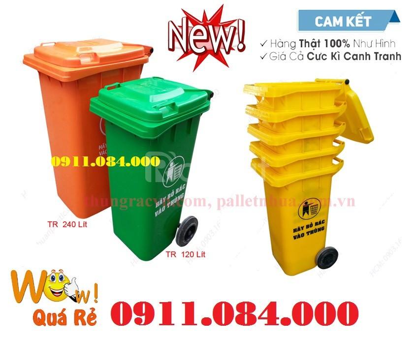 Phân phối giá sỉ lẻ thùng rác 120L 240L toàn quốc  (ảnh 1)