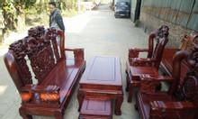Bộ bàn ghế phòng khách rồng trầu mặt nguyệt