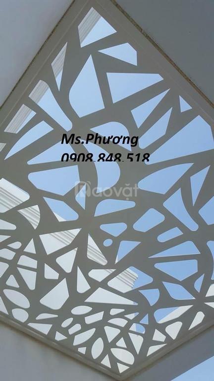 Thiết kế gia công mặt dựng giếng trời hoa văn cnc bền đẹp