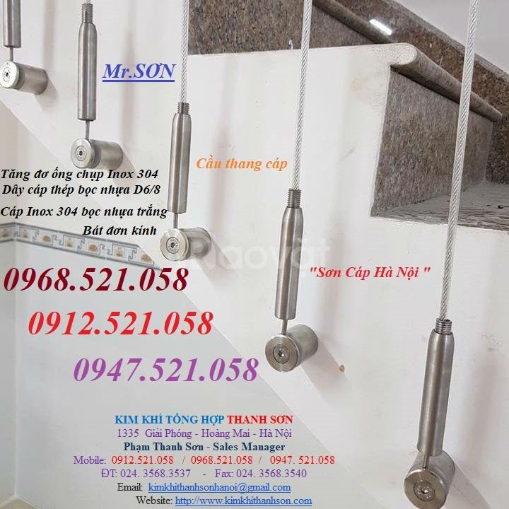 Cầu thang dây cáp tăng đơ ống có độ an toàn - bền đẹp - thẩm mỹ cao