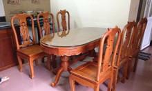 Bộ bàn ghế phòng ăn gỗ hương vân