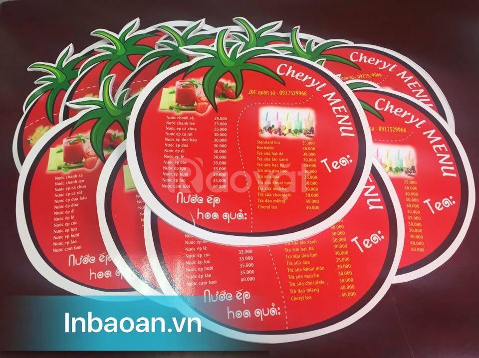 In menu nhà hàng tại Hà Nội