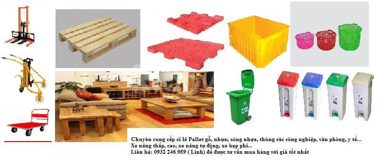 Pallet, xe nâng, thùng rác, sóng nhựa giá bán buôn (ảnh 1)